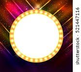 abstract shining retro light... | Shutterstock .eps vector #521447116