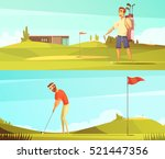 golf players at course 2... | Shutterstock .eps vector #521447356