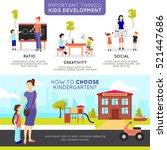 kindergarten horizontal banners ... | Shutterstock .eps vector #521447686