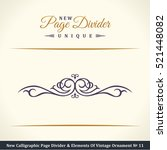 new calligraphic page divider...   Shutterstock .eps vector #521448082