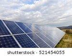 solar power station in the... | Shutterstock . vector #521454055