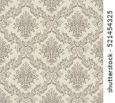 decorative light floral...   Shutterstock .eps vector #521454325