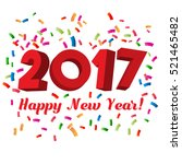 2017 happy new year text with... | Shutterstock .eps vector #521465482