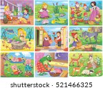 set of fairy tale pictures.... | Shutterstock . vector #521466325