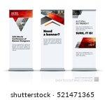 business vector set of modern... | Shutterstock .eps vector #521471365