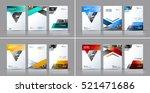 business vector set. brochure... | Shutterstock .eps vector #521471686