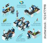 office isometric infographics... | Shutterstock .eps vector #521477998