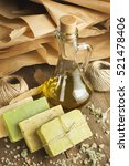 collection of handmade  natural ... | Shutterstock . vector #521478406