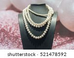 Pearls Necklace In Gem Shop
