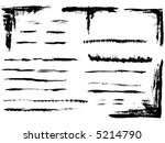 grunge elements   full page of...   Shutterstock .eps vector #5214790