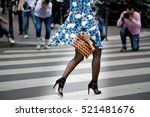 Small photo of PARIS-JULY 6, 2016. Paris fashion week, Haute couture. Street stylish shoes.