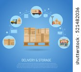 delivery and storage concept... | Shutterstock .eps vector #521482036