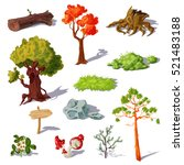 forest elements set with... | Shutterstock .eps vector #521483188