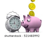 time is money. alarm clock and... | Shutterstock . vector #521483992