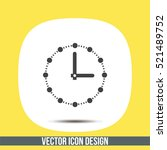clock with dots vector icon....