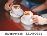 man and woman on a date at a... | Shutterstock . vector #521490838