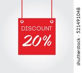 discount 20  on board hanging... | Shutterstock .eps vector #521491048