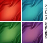 vector set of colored red green ... | Shutterstock .eps vector #521491372