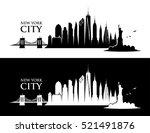 new york city skyline   vector... | Shutterstock .eps vector #521491876