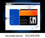 website template  vector | Shutterstock .eps vector #52149190