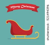 santa sleigh with shadow and... | Shutterstock .eps vector #521494396