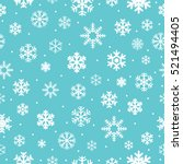 christmas seamless pattern with ... | Shutterstock .eps vector #521494405
