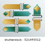 set of colorful belt shape... | Shutterstock .eps vector #521495512