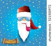 vector rock n roll santa claus... | Shutterstock .eps vector #521500972