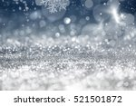 magic blue holiday abstract... | Shutterstock . vector #521501872