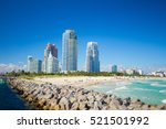 south beach  miami beach.... | Shutterstock . vector #521501992