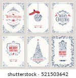 ornate vertical winter holidays ... | Shutterstock .eps vector #521503642