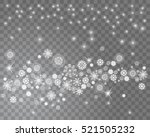 falling snow on a transparent...   Shutterstock .eps vector #521505232
