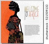 ethnic background with african... | Shutterstock .eps vector #521509132