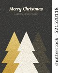 vector merry christmas and... | Shutterstock .eps vector #521520118
