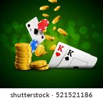 poker chips casino green poster.... | Shutterstock .eps vector #521521186