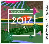 happy new year 2017 background. ... | Shutterstock .eps vector #521525662
