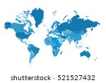 political map of the world.... | Shutterstock .eps vector #521527432