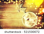 christmas background with cup... | Shutterstock . vector #521530072