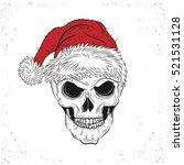 scary christmas skull. horror...   Shutterstock .eps vector #521531128