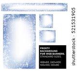 vector set frosty background... | Shutterstock .eps vector #521531905