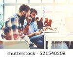 skilled journalist checking... | Shutterstock . vector #521540206