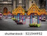 zocalo decoration for the day...   Shutterstock . vector #521544952