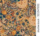 tracery seamless calming... | Shutterstock . vector #521547052