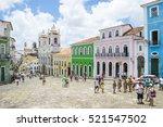 salvador  brazil   march 12 ... | Shutterstock . vector #521547502