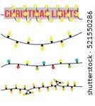 christmas lights vector... | Shutterstock .eps vector #521550286