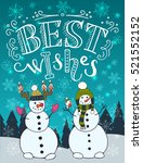 best wishes unique hand... | Shutterstock .eps vector #521552152