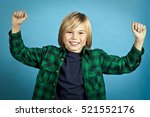 young boy portrait on isolated... | Shutterstock . vector #521552176