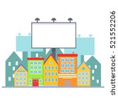 big blank urban billboard over... | Shutterstock .eps vector #521552206