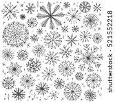 vector seamless snowflake... | Shutterstock .eps vector #521552218