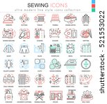 vector sewing color line... | Shutterstock .eps vector #521553022